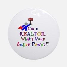 Realtor Super Power Round Ornament