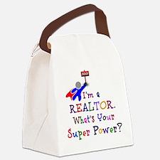 Realtor Super Power Canvas Lunch Bag