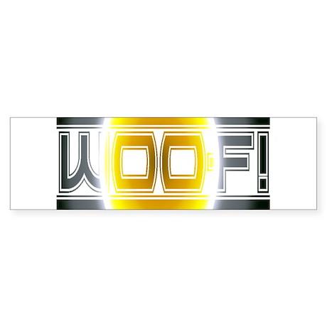 sunshine woof Bumper Sticker