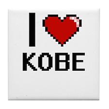 I Love Kobe Tile Coaster