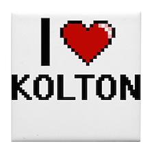 I Love Kolton Tile Coaster