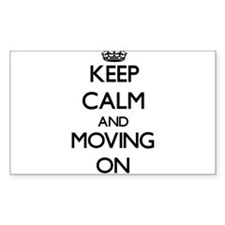 Keep Calm and Moving ON Decal