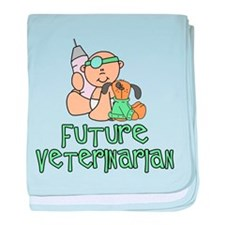 Cute Careers and professions baby blanket