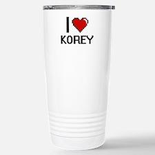 I Love Korey Stainless Steel Travel Mug