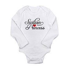Cute Sicilian girl Long Sleeve Infant Bodysuit