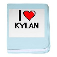 I Love Kylan baby blanket