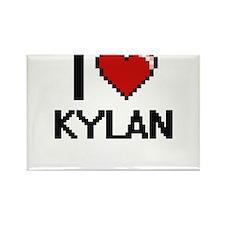 I Love Kylan Magnets