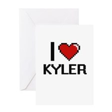 I Love Kyler Greeting Cards