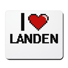 I Love Landen Mousepad