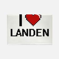 I Love Landen Magnets