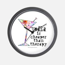 Funny Cocktail Wall Clock