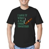 Hood cigar i love it when plan comes together Fitted Dark T-Shirts