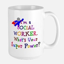 Social Worker Super Power Large Mug