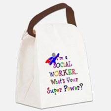 Social Worker Super Power Canvas Lunch Bag