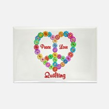 Quilting Peace Love Rectangle Magnet