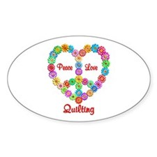 Quilting Peace Love Decal