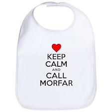 Keep Calm Call Morfar Bib