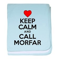 Keep Calm Call Morfar baby blanket