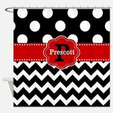 Black And Red Chevron Shower Curtains Black And Red Chevron