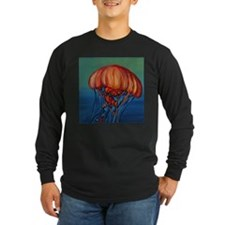Orange Jellyfish Long Sleeve T-Shirt