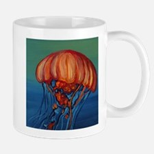 Orange Jellyfish Mugs