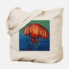 Orange Jellyfish Tote Bag