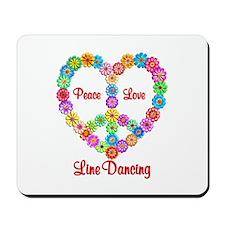 Line Dancing Peace Love Mousepad