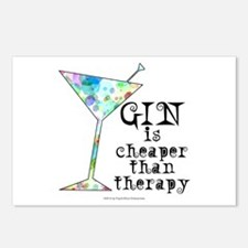 GIN is cheaper than therapy Postcards (Package of