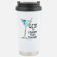 GIN is cheaper than therapy Travel Mug