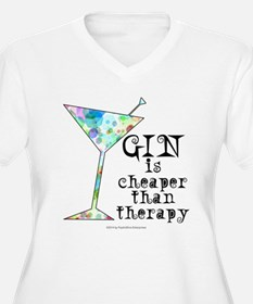 GIN is cheaper than therapy Plus Size T-Shirt
