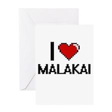I Love Malakai Greeting Cards