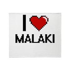 I Love Malaki Throw Blanket