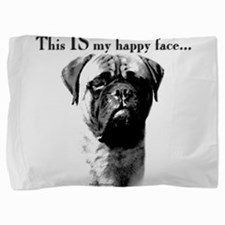 Bullmastiff Happy Face Pillow Sham