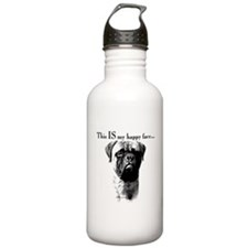 Bullmastiff Happy Face Water Bottle