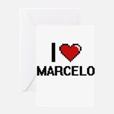 I Love Marcelo Greeting Cards
