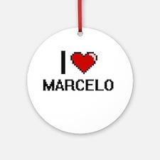I Love Marcelo Ornament (Round)