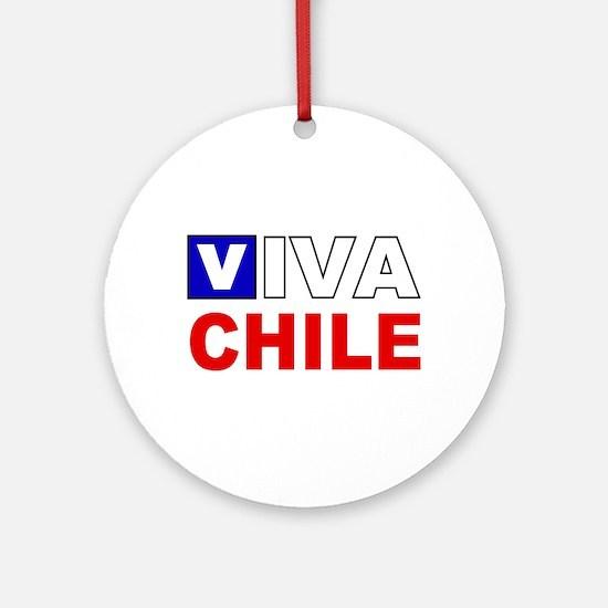 Viva Chile flag Ornament (Round)