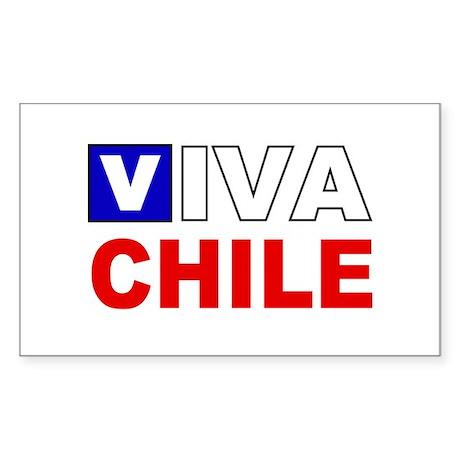 Viva Chile flag Rectangle Sticker