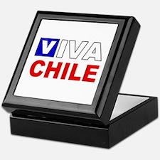 Viva Chile flag Keepsake Box
