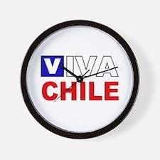 Viva Chile flag Wall Clock