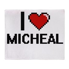 I Love Micheal Throw Blanket
