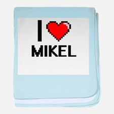 I Love Mikel baby blanket