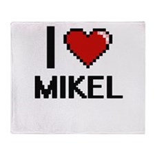I Love Mikel Throw Blanket