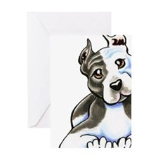 Amstaff Lean Greeting Cards