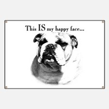 Bulldog Happy Face Banner