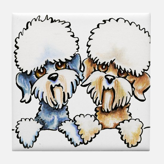 A Dandie Pair Tile Coaster