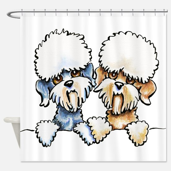 A Dandie Pair Shower Curtain