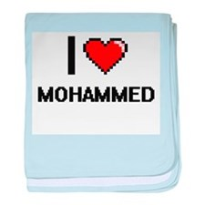 I Love Mohammed baby blanket