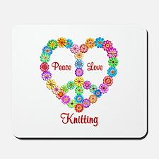 Knitting Peace Love Mousepad