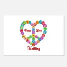 Knitting Peace Love Postcards (Package of 8)